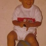 Gustavo as a child in Brazil